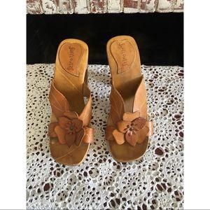 Vintage wood heels